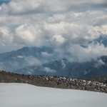 kotłowisko chmur nad masywem Canigou