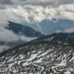 kotłowisko chmur widok na południe