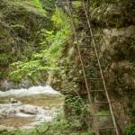 drabiny w kanionie Caranca