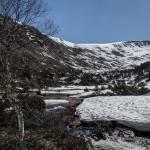 pireneje kwiecień, maj 2015 widok w górę doliny