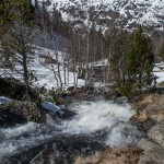 pireneje kwiecień, maj 2015 zejscie w strone lac Laparan