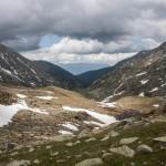 widok z podejścia na Portella Blanca de Andorra