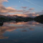 zachód słóńca nad stawem Montmalus, Andora