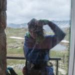 autoportret w oknie refugio la Illa