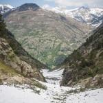 lawiniasty żleb na zejściu z Col de Sellente
