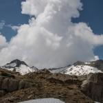 burzowa chmura ponad Pic Rouge de Bassies