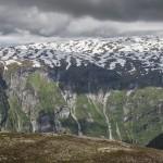 kanion który opada z Sognefjellet aż do Sognefjord