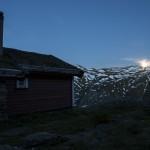 zachód księżyca nad Sognefjell