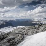 Widok na Sognefjellet- opadający aż do Sognefjord