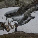 zawalony śniegiem most w Vetledalen