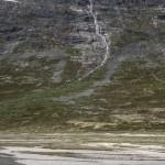 stok z wodospadami- nad tym wszystkim też lodowiec