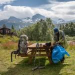 Stół piknikowy w Reinheimen, Norwegia