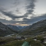 nasz biwaczek z widokiem na dolinę Veltdalen