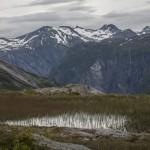 bagna i widok na drugą stronę Tafjord