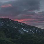 zachód słońca na naszym biwaczku