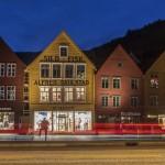 Bryggen nocą
