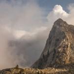 góra ponad Sanktuarium Świętej Anny de Vinadio