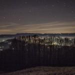 nocny widok z Rifugio Rossi