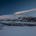 Laponia o zmierzchu