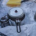 gotowanie w przedsionku namiotu