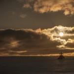 zachód słońca pod Nordkapp