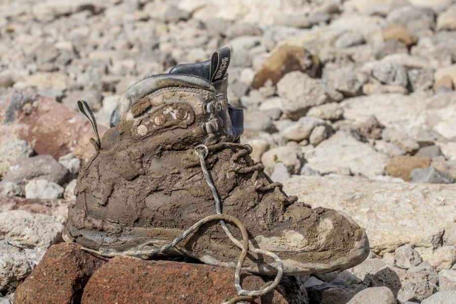 Islandia, moje buty i błoto