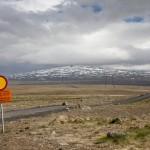 islandzkie wyżyny i zamknięta droga