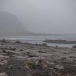 wybrzeże w drodze na Hornstrandir
