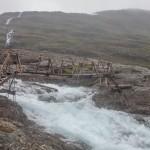 wezbrana lodowcowa rzeka