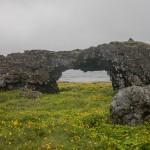 skalny łuk, tuż przed Drangavikiem
