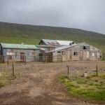 Islandzka farma przy drodze