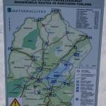 mapa szlaków skuterowych Ivalo, Utsjoki, Nuorgam