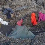 po deszczu- biwak na Odadahraun