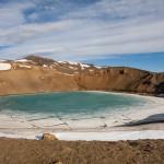 Islandia, Krafla, krater Viti