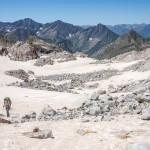 Pireneje lipiec , lodowiec Gorg Blanc
