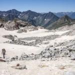 Pireneje, lipiec, lodowiec Gourg Blanc
