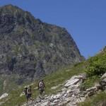 Pireneje, lipiec , droga do jeziora Caillalauas