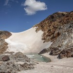 Pireneje, lipiec , przełęcz pod pluwiometrem