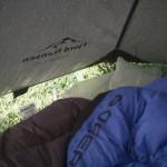 Pireneje, lipiec - namiot- całkiem zaparowany