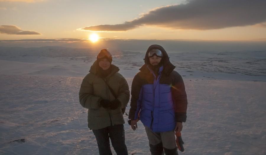 ja i Jose w Laponii