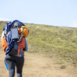 turysta na szlaku z Landmannalaguar do Þórsmörk